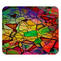Abstract Squares Triangle Polygon Double Sided Flano Blanket (small)