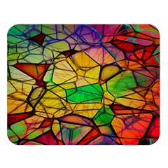 Abstract Squares Triangle Polygon Double Sided Flano Blanket (large)