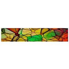 Abstract Squares Triangle Polygon Flano Scarf (Small)