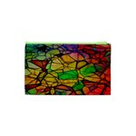 Abstract Squares Triangle Polygon Cosmetic Bag (XS) Back