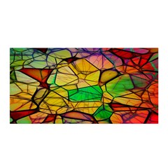 Abstract Squares Triangle Polygon Satin Wrap