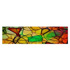 Abstract Squares Triangle Polygon Satin Scarf (Oblong)