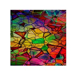 Abstract Squares Triangle Polygon Small Satin Scarf (Square)
