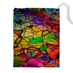 Abstract Squares Triangle Polygon Drawstring Pouches (xxl)