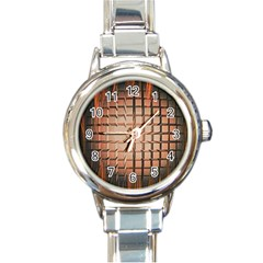 Abstract Texture Background Pattern Round Italian Charm Watch