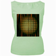 Abstract Texture Background Pattern Women s Green Tank Top