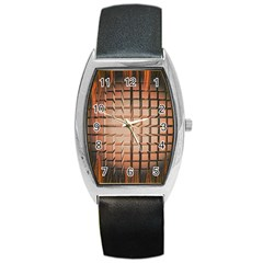 Abstract Texture Background Pattern Barrel Style Metal Watch