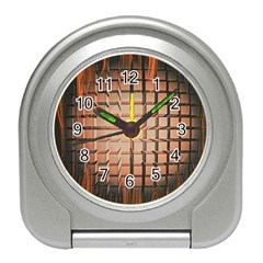 Abstract Texture Background Pattern Travel Alarm Clocks