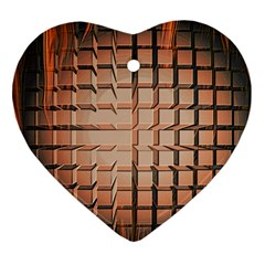 Abstract Texture Background Pattern Heart Ornament (two Sides)