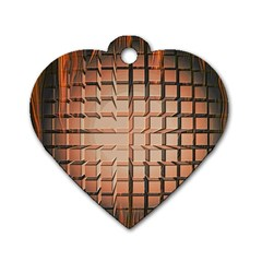 Abstract Texture Background Pattern Dog Tag Heart (Two Sides)