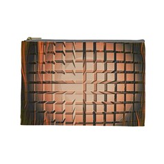 Abstract Texture Background Pattern Cosmetic Bag (Large)