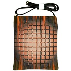 Abstract Texture Background Pattern Shoulder Sling Bags