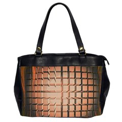 Abstract Texture Background Pattern Office Handbags (2 Sides)