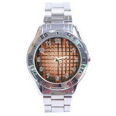 Abstract Texture Background Pattern Stainless Steel Analogue Watch