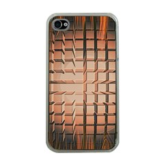 Abstract Texture Background Pattern Apple iPhone 4 Case (Clear)
