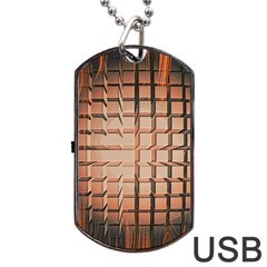 Abstract Texture Background Pattern Dog Tag Usb Flash (two Sides)