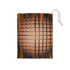 Abstract Texture Background Pattern Drawstring Pouches (medium)