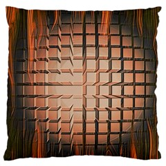 Abstract Texture Background Pattern Large Flano Cushion Case (One Side)
