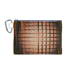 Abstract Texture Background Pattern Canvas Cosmetic Bag (M)