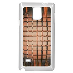 Abstract Texture Background Pattern Samsung Galaxy Note 4 Case (White)