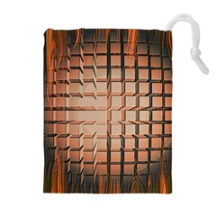 Abstract Texture Background Pattern Drawstring Pouches (Extra Large)