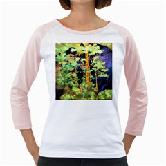 Abstract Trees Flowers Landscape Girly Raglans