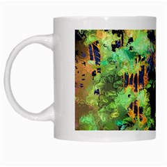 Abstract Trees Flowers Landscape White Mugs