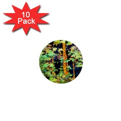 Abstract Trees Flowers Landscape 1  Mini Buttons (10 pack)