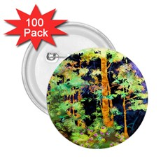 Abstract Trees Flowers Landscape 2.25  Buttons (100 pack)