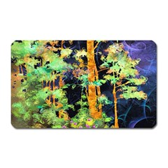 Abstract Trees Flowers Landscape Magnet (rectangular)