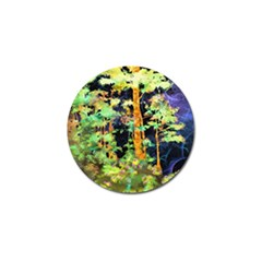 Abstract Trees Flowers Landscape Golf Ball Marker (4 pack)