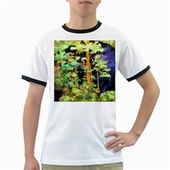 Abstract Trees Flowers Landscape Ringer T Shirts