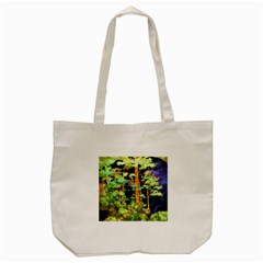 Abstract Trees Flowers Landscape Tote Bag (Cream)