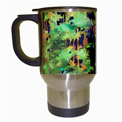 Abstract Trees Flowers Landscape Travel Mugs (White)