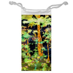 Abstract Trees Flowers Landscape Jewelry Bag
