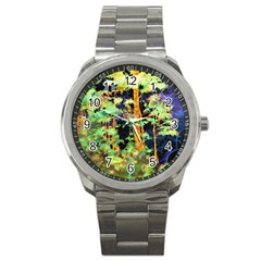 Abstract Trees Flowers Landscape Sport Metal Watch