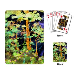 Abstract Trees Flowers Landscape Playing Card