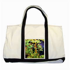 Abstract Trees Flowers Landscape Two Tone Tote Bag