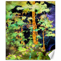Abstract Trees Flowers Landscape Canvas 8  x 10