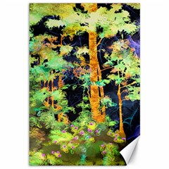 Abstract Trees Flowers Landscape Canvas 12  x 18