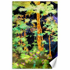 Abstract Trees Flowers Landscape Canvas 24  x 36