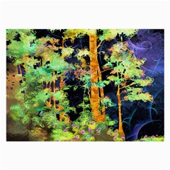 Abstract Trees Flowers Landscape Large Glasses Cloth