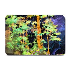 Abstract Trees Flowers Landscape Small Doormat