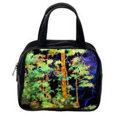 Abstract Trees Flowers Landscape Classic Handbags (One Side)