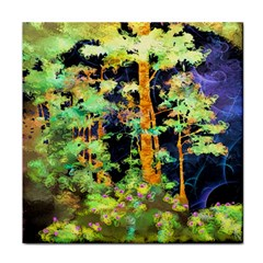 Abstract Trees Flowers Landscape Face Towel