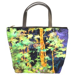 Abstract Trees Flowers Landscape Bucket Bags