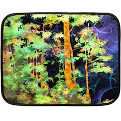 Abstract Trees Flowers Landscape Fleece Blanket (mini)