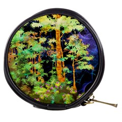 Abstract Trees Flowers Landscape Mini Makeup Bags