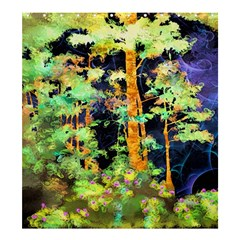 Abstract Trees Flowers Landscape Shower Curtain 66  x 72  (Large)