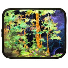 Abstract Trees Flowers Landscape Netbook Case (XL)